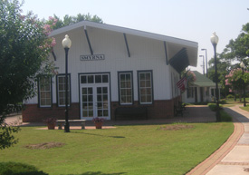 The Smyrna History Museum is located in a replica of a train depot erected in 1910 (the original was torn down in 1959).