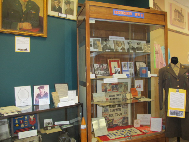 An exhibit on local WWII history