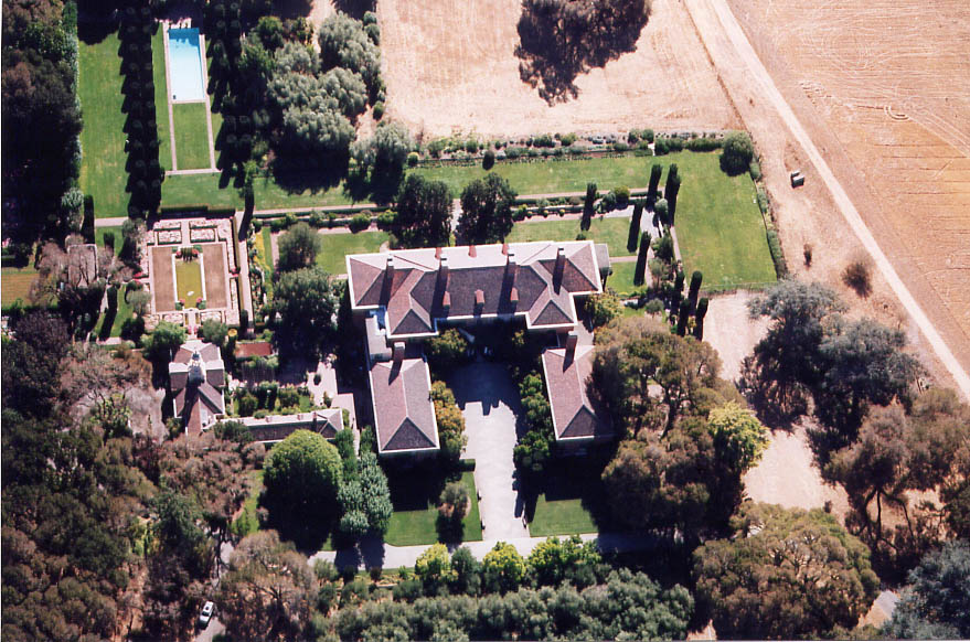 Aerial shot of Filoli.