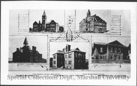 The first Douglass School is pictured at the bottom center