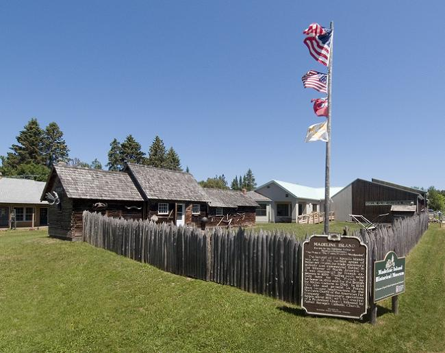 The recreated stockade