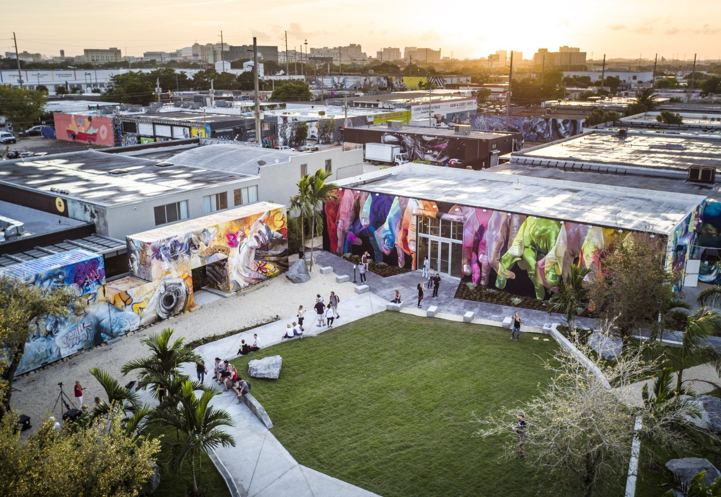 The Wynwood Walls Garden area and the Garden Shop building.