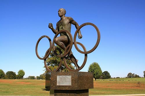 The Jesse Owens statue