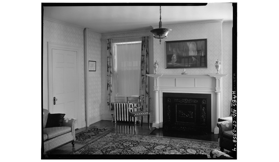One of the parlors located within the Henry Barnard House.