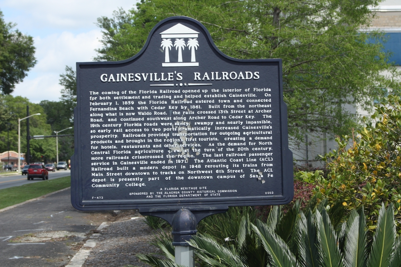 Gainesville Railroads Historical Marker