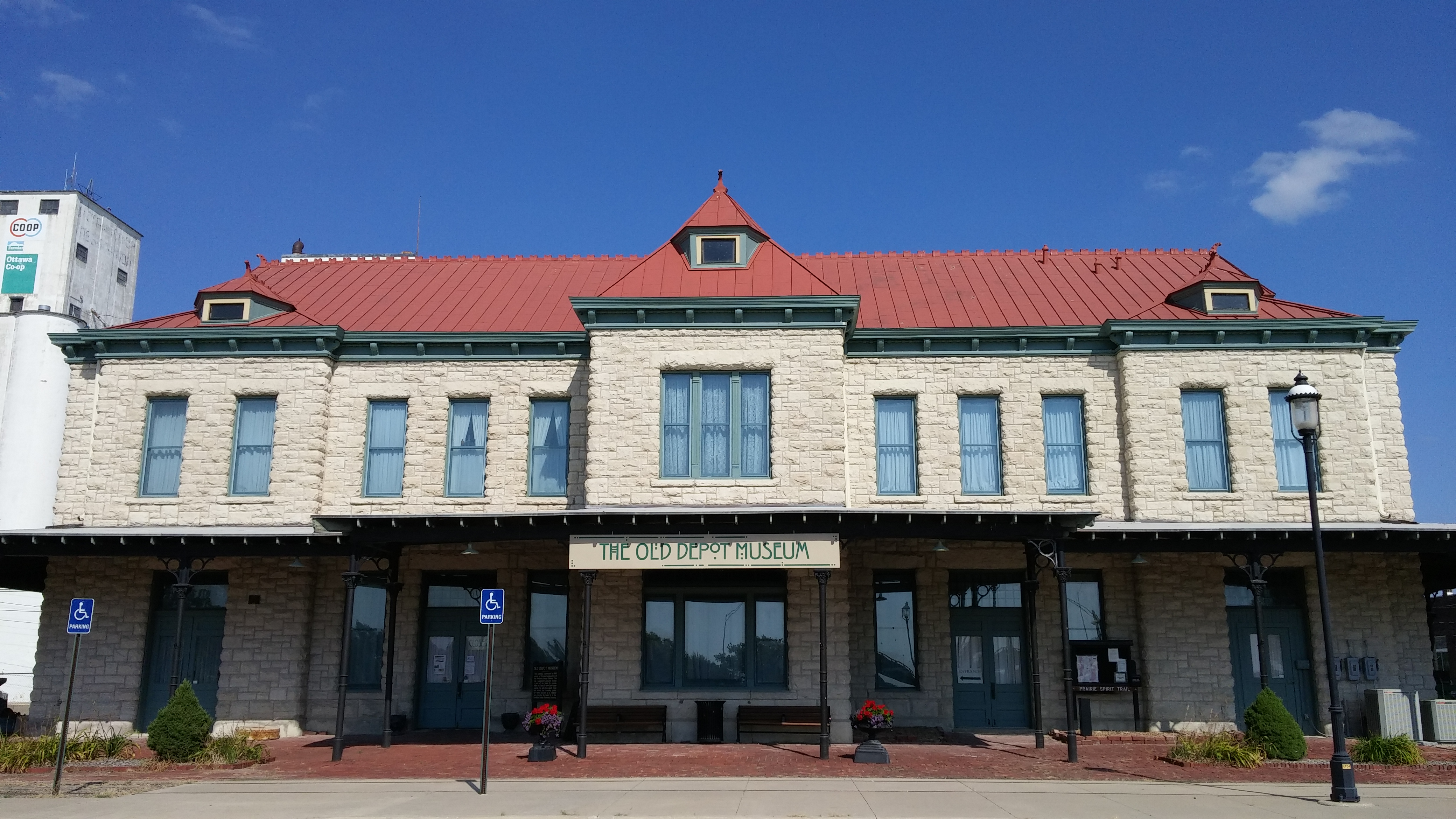 Originally a railroad depot for first the Southern Kansas and then the Santa Fe, the Old Depot Museum was built in 1888.