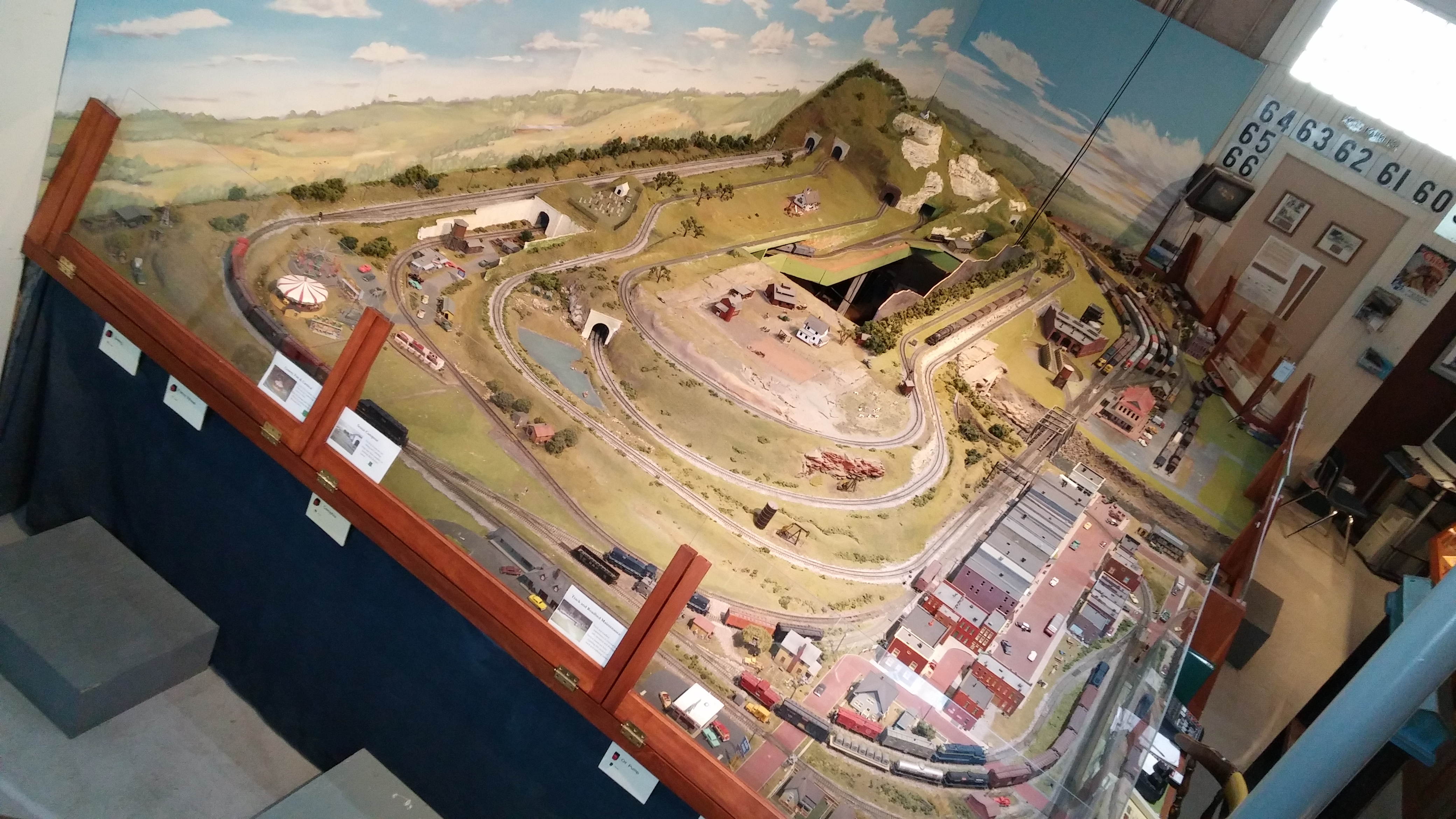 The HO-Scale Model Railroad exhibit was started during the 1960s. Many of the handcrafted structures, including the miniature depot and the buildings on Main Street, replicate structures in Franklin County.