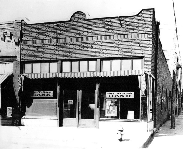 First National Bank operated for a number of years after the robbery before the storefront became home to a variety of local businesses.