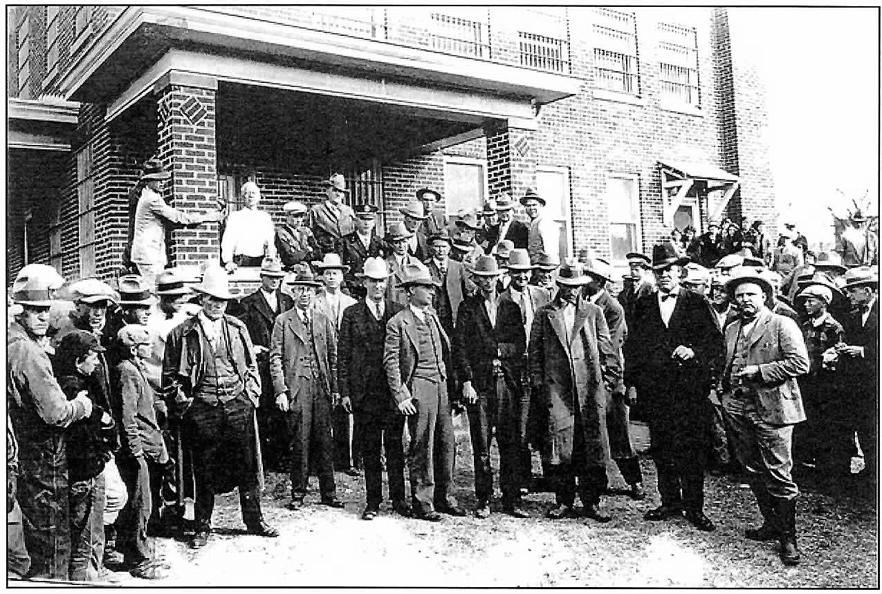 Members of the posse that tracked and captured the three surviving robbers.