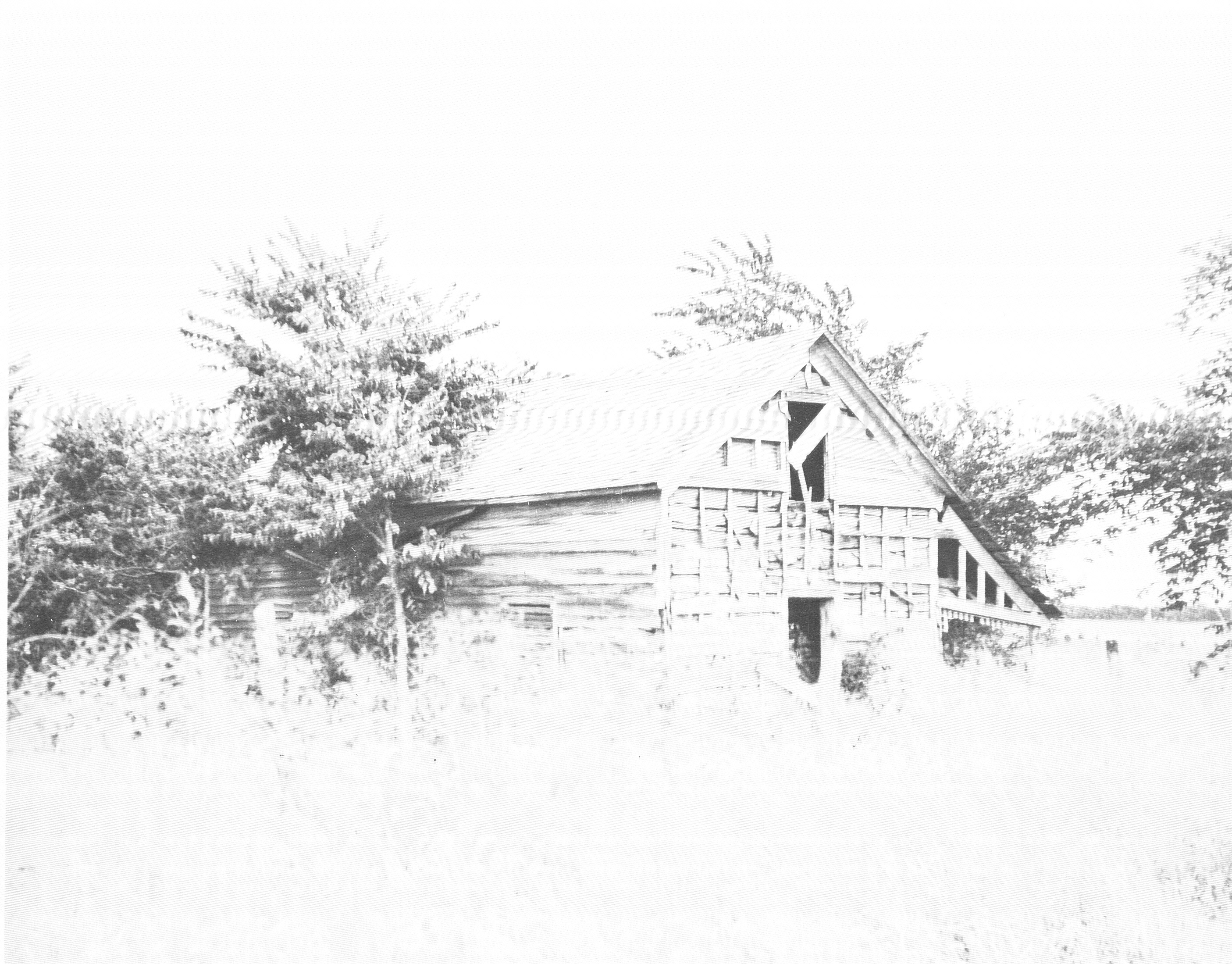 Dietrich Cabin before it was moved to City Park.