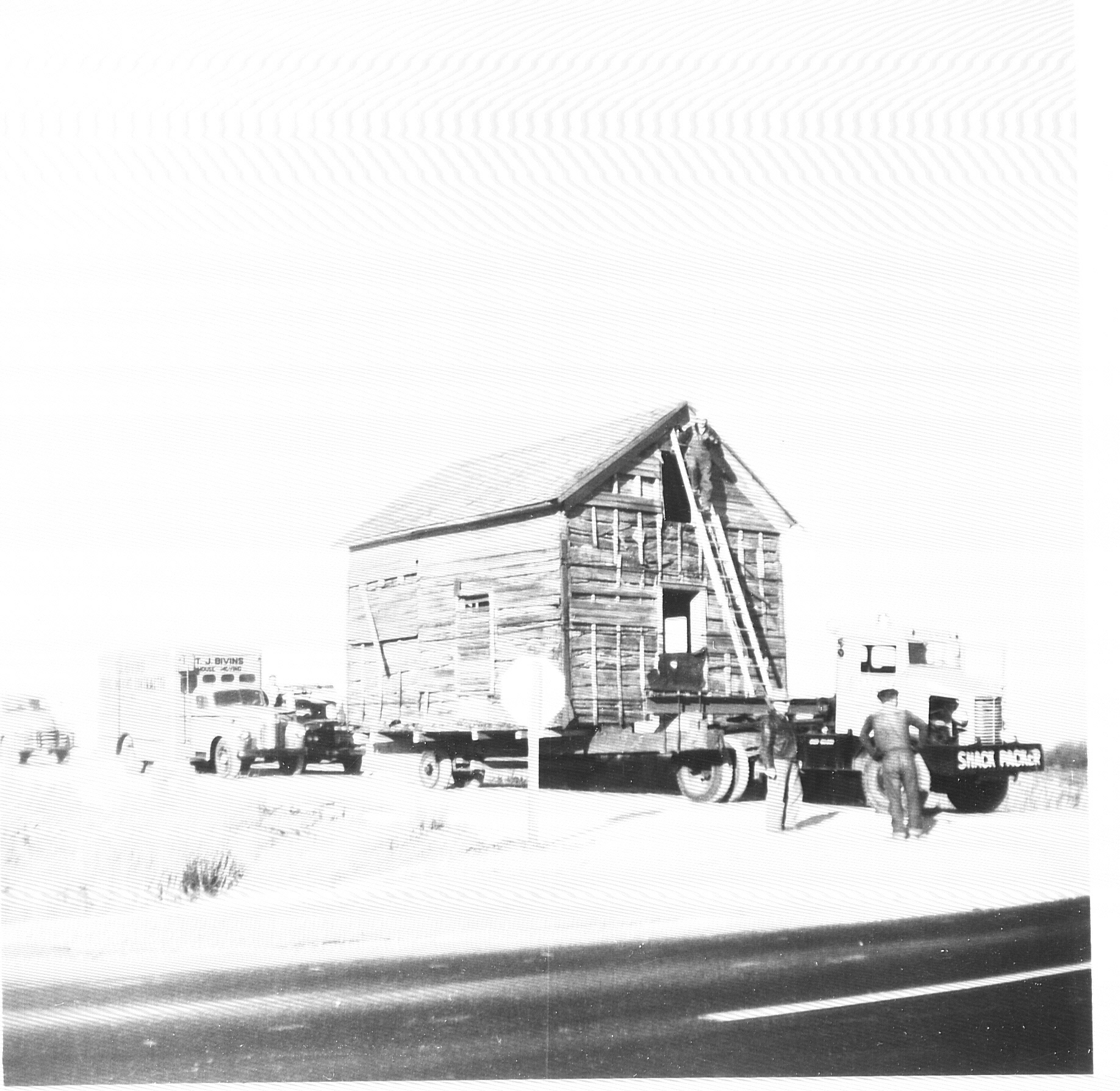Moving Dietrich Cabin from its original site southwest of Princeton, Kansas, to City Park in Ottawa, Kansas.