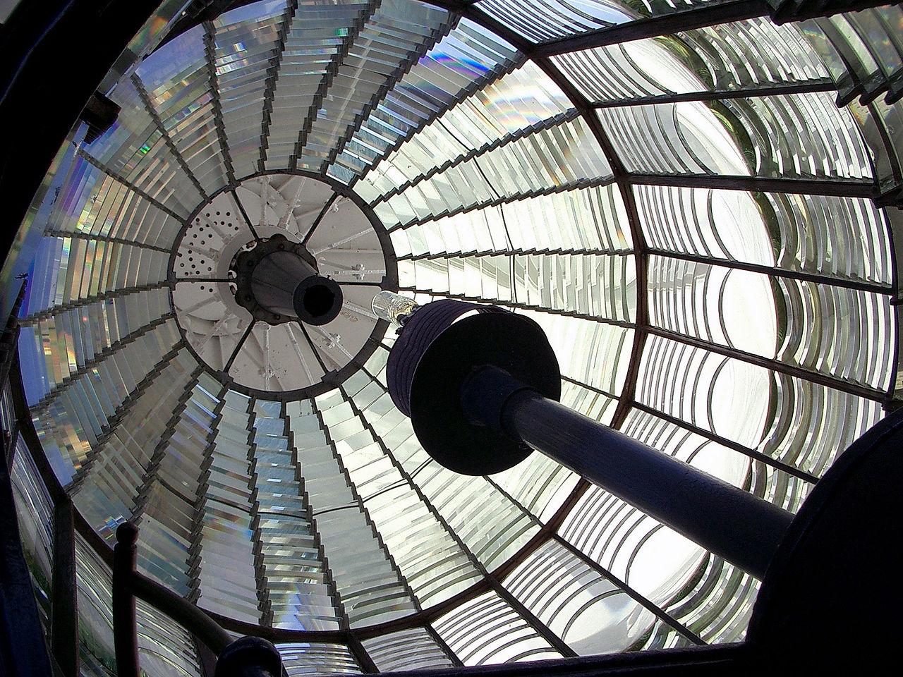 Inside the first-order Fresnel lens.