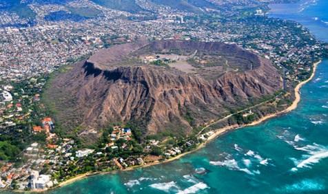 Diamond Head aerial view