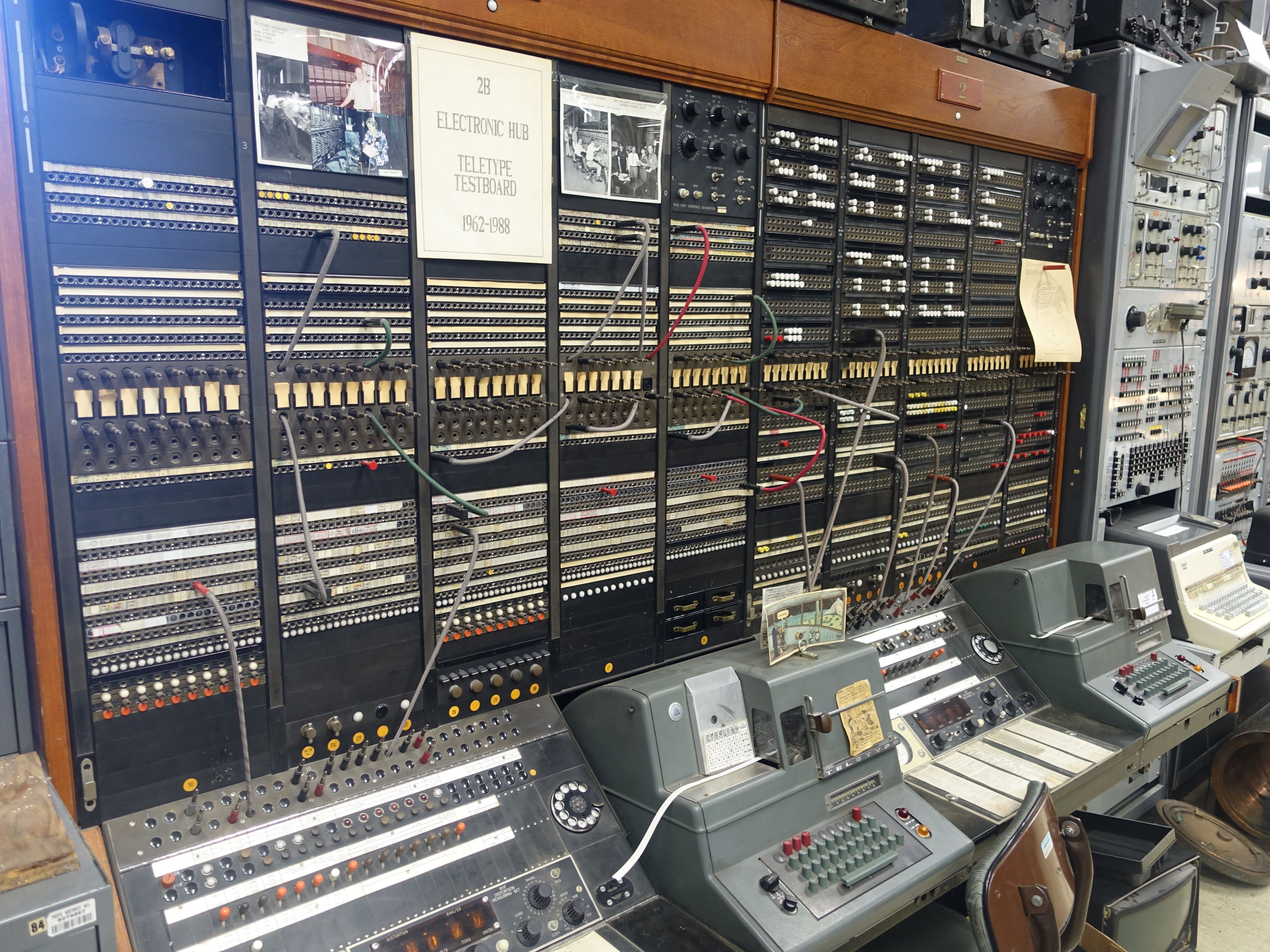 Another display of telecommunications equipment.