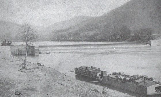 Lock #1 on Coal River (now submerged) about 1890s