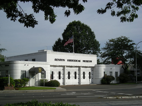 The restored fire station that now houses the Renton History Museum.