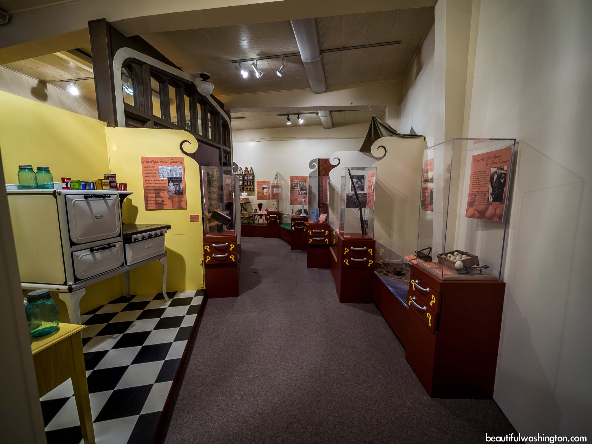 Another interior shot of the museum.