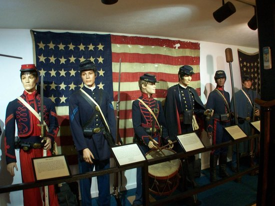 Some of the uniforms on display