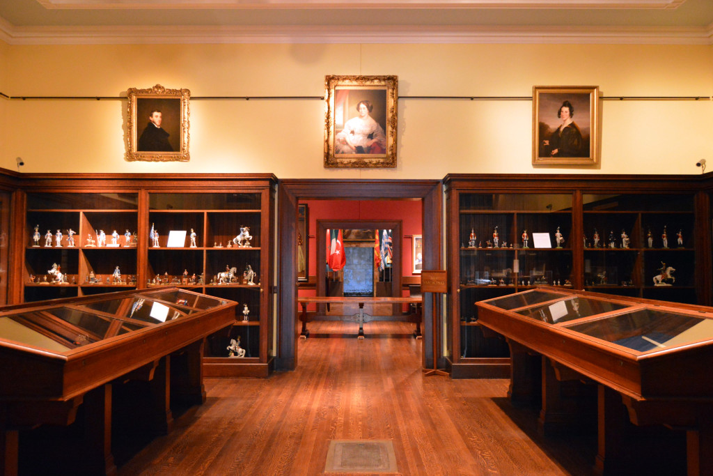 A gallery at the Annmary Brown Memorial exhibits Hawkins's military memorabilia, mementos and letters from Annmary Brown's life, and other assorted personal items.