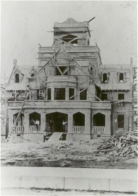 The old jail being built. (City of DeRidder)