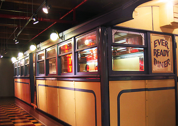 Ever Ready Diner on Display: This 1926 Worcester Lunch Car last operated in Providence in 1989, when it was donated to Johnson & Wales University.