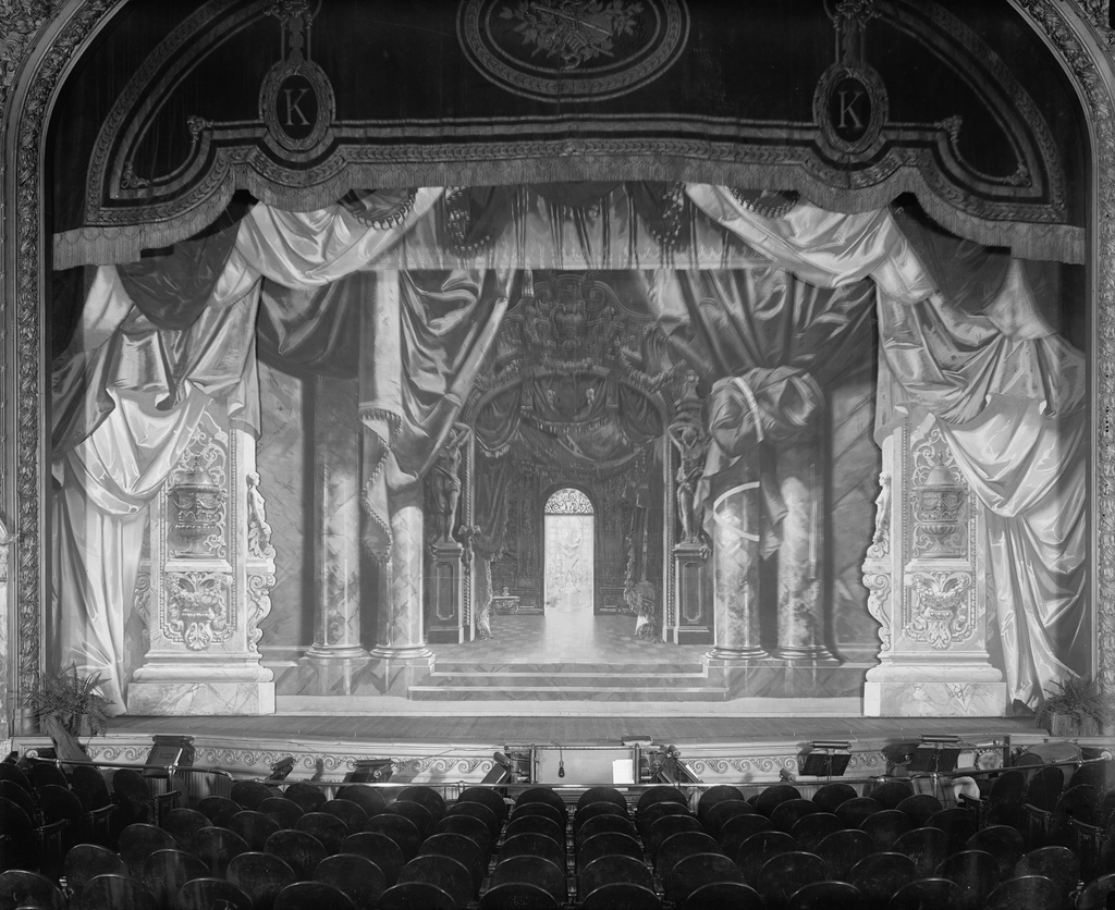 The stage of the B.F. Keith Theater, in the original building