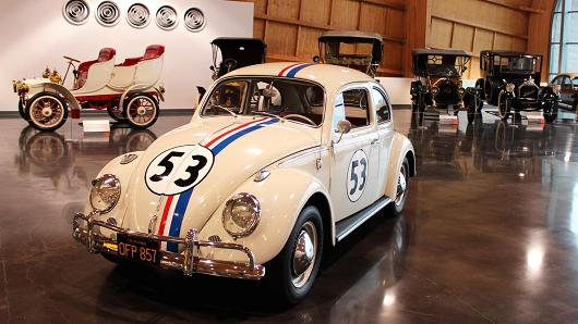 "Herbie, the ""Love Bug"" on display."