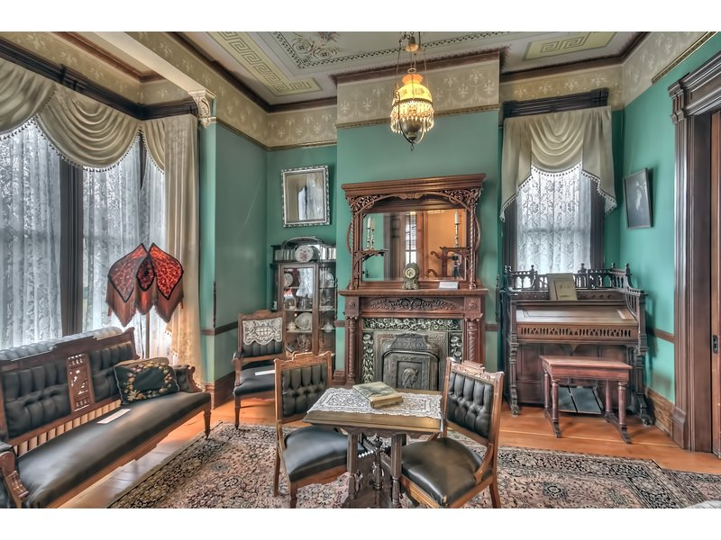 A room within the mansion with period furnishings.