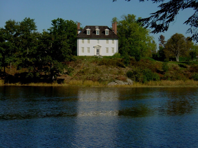 Hamilton House as seen from the Salmon Falls River.