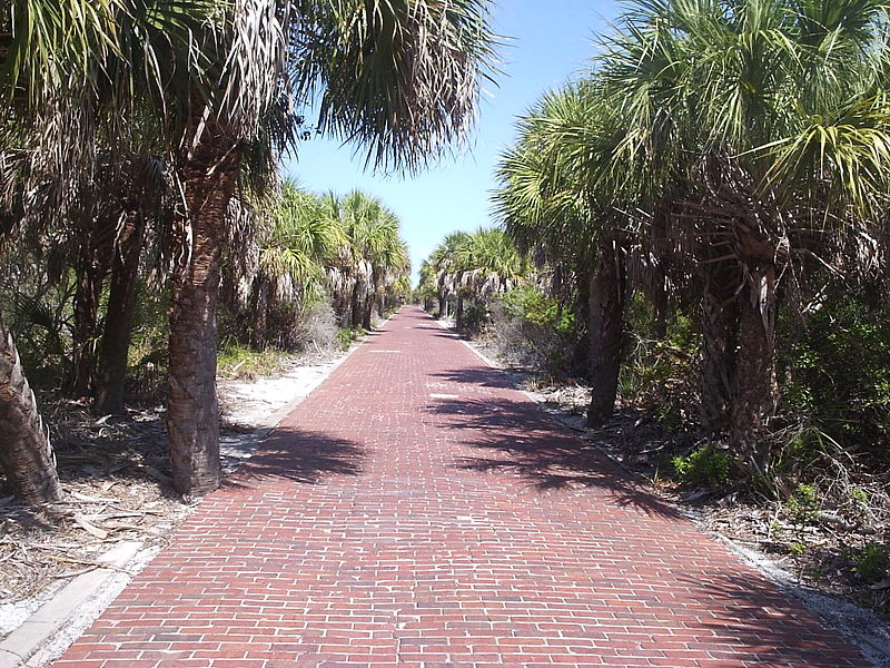 Brick road as part of the Fort Dade ruins