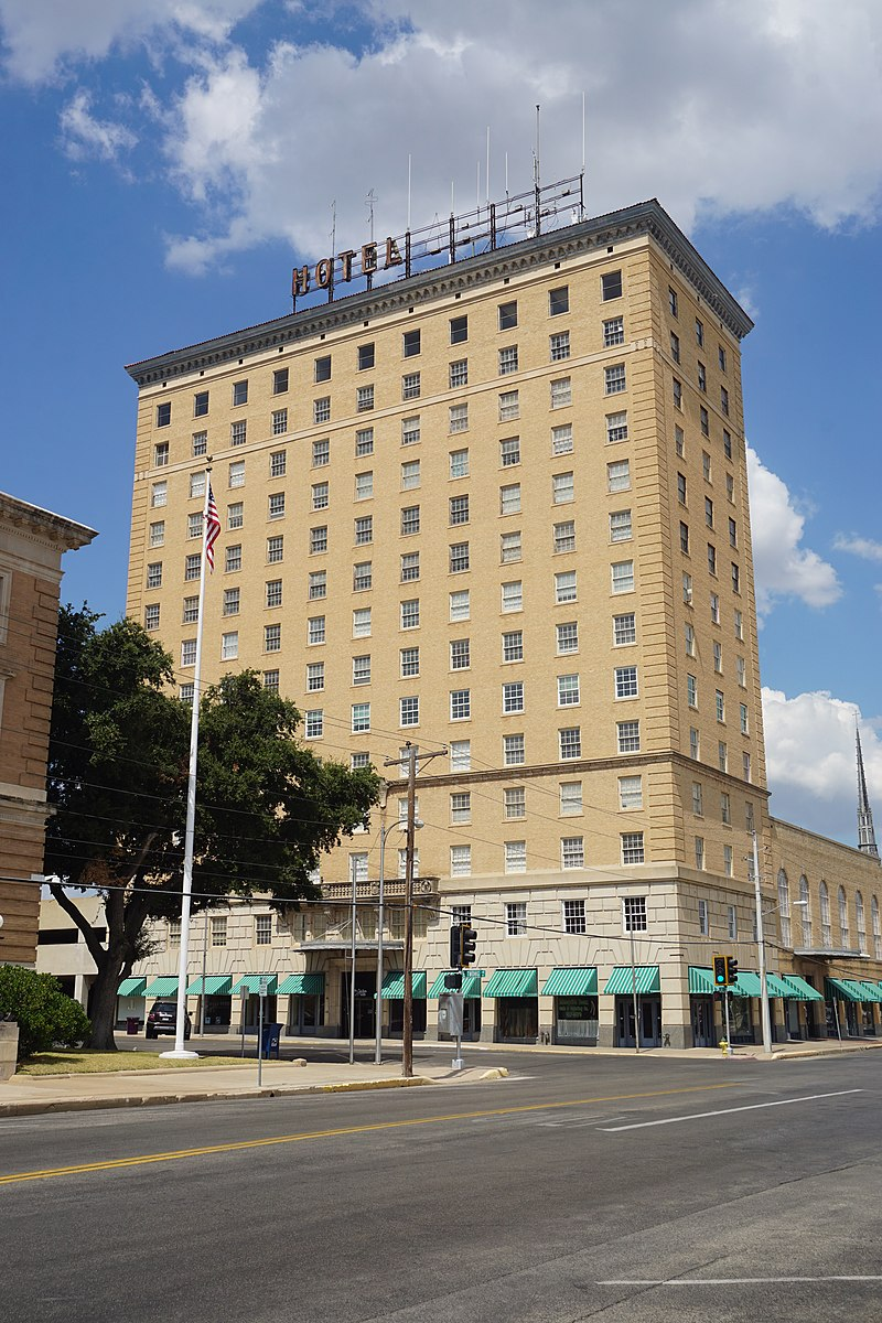 The Cactus Hotel, originally called the Hilton Hotel, was built in 1928 and has been an important landmark in San Angelo.