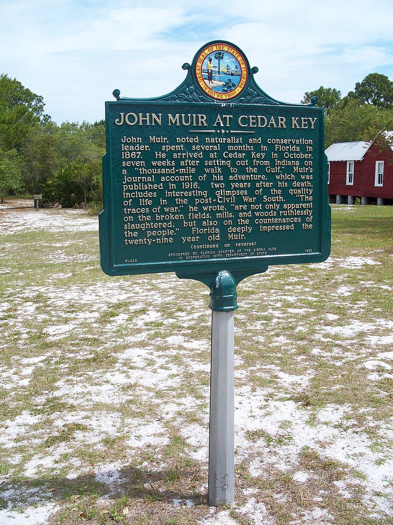 Historic Marker that commenorates John Muir's visit