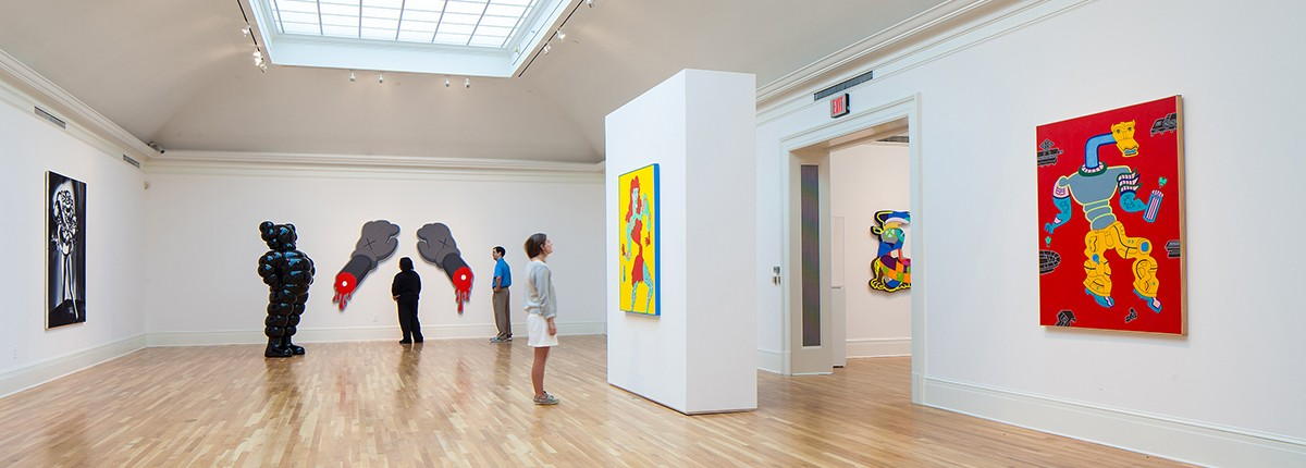 Interior gallery space within the Newcomb Art Museum