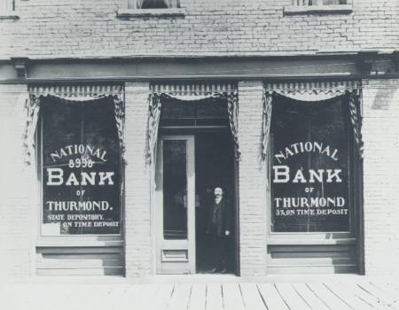 National Bank of Thurmond. Early 1900s. 