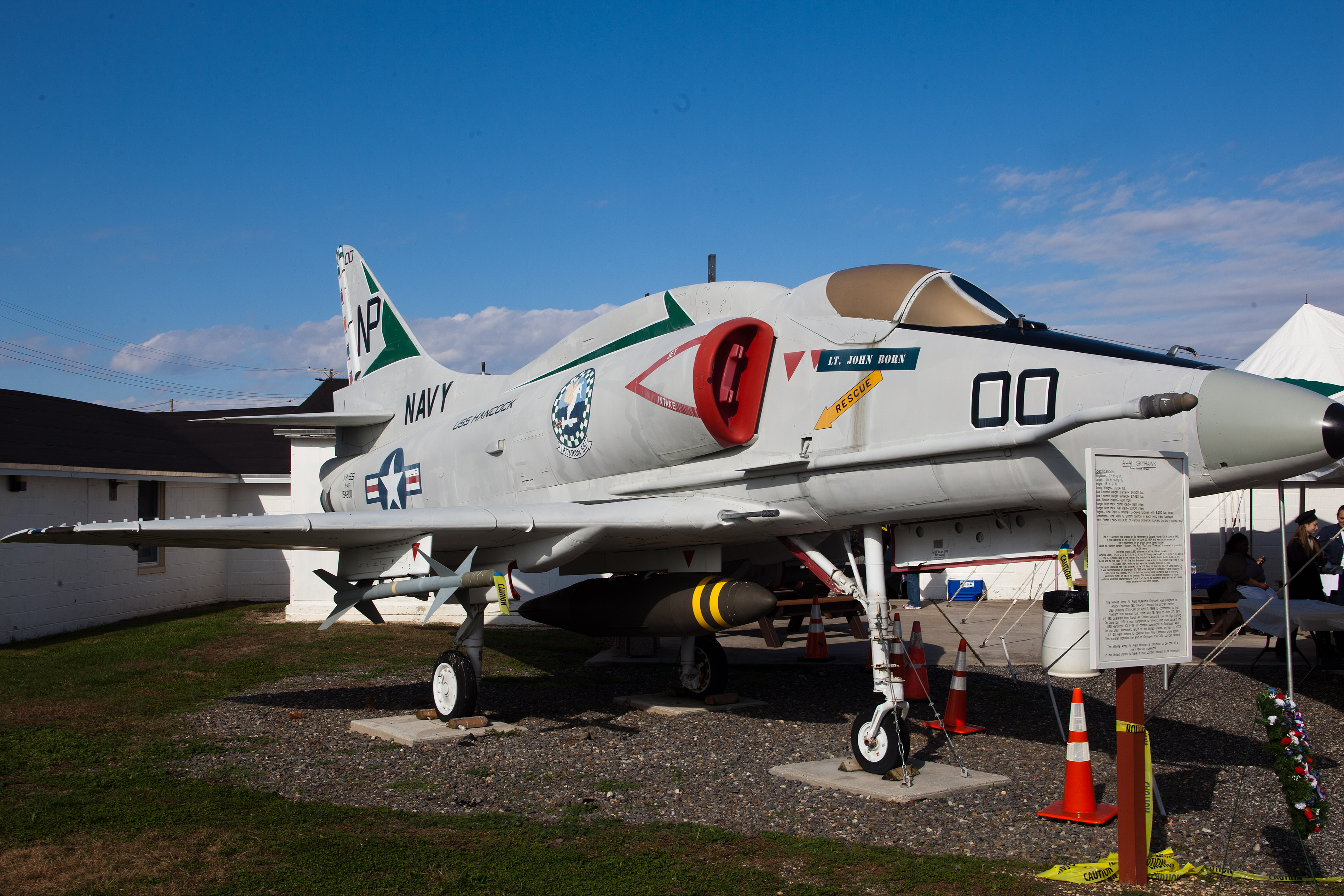 The A-4F Skyhawk fighter jet