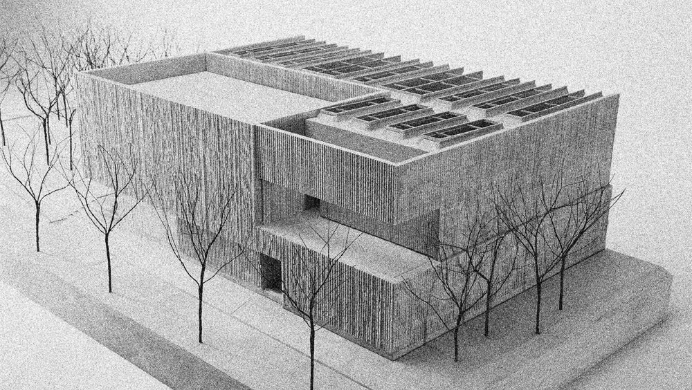 Exterior plan of the Clyfford Still Museum
