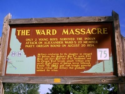 Ward Massacre Marker