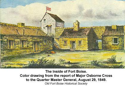 Inside of Fort Boise, circa 1849