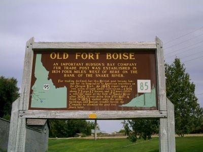 Old Fort Boise historical marker