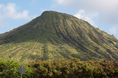 Koko Head view from the bottom