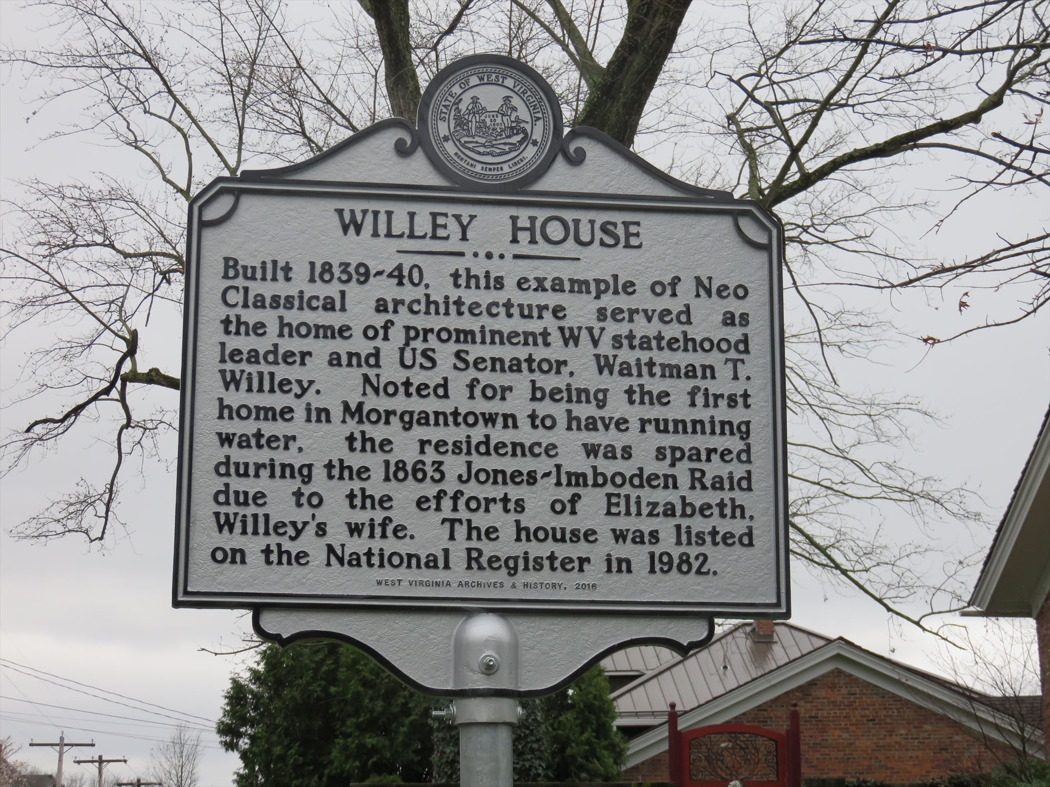 Willey House Historical Marker