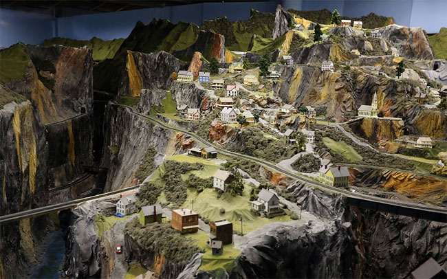 View of the model trains