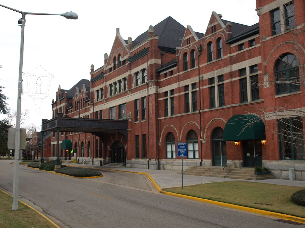 Built in 1998, Union Station has been renovated and is home to commercial tenants and the Montgomery Area Visitor Center.