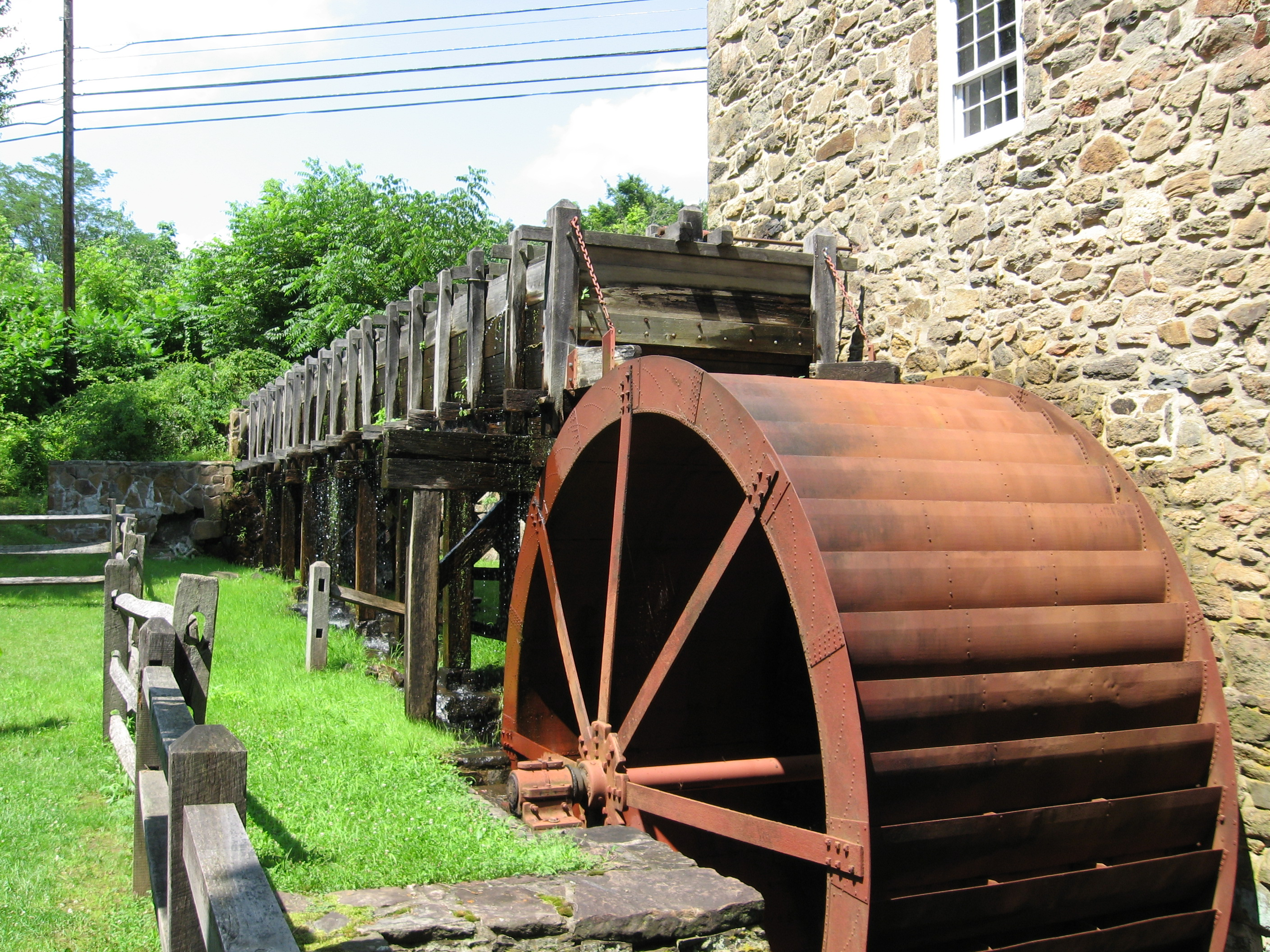 Closeup of the water wheel