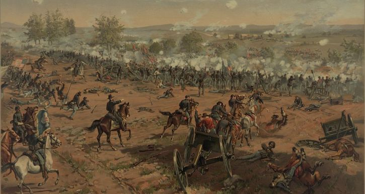 Pickett's Charge at the Battle of Gettysburg.