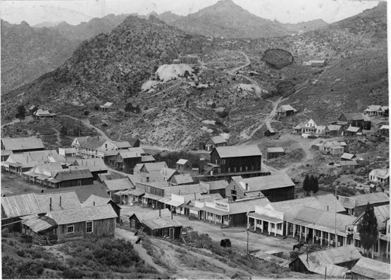 Silver City in 1892. Photograph from the Historical Photograph Collection, University of Idaho Library.