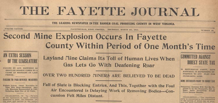 Newspaper Headline of the Explosion