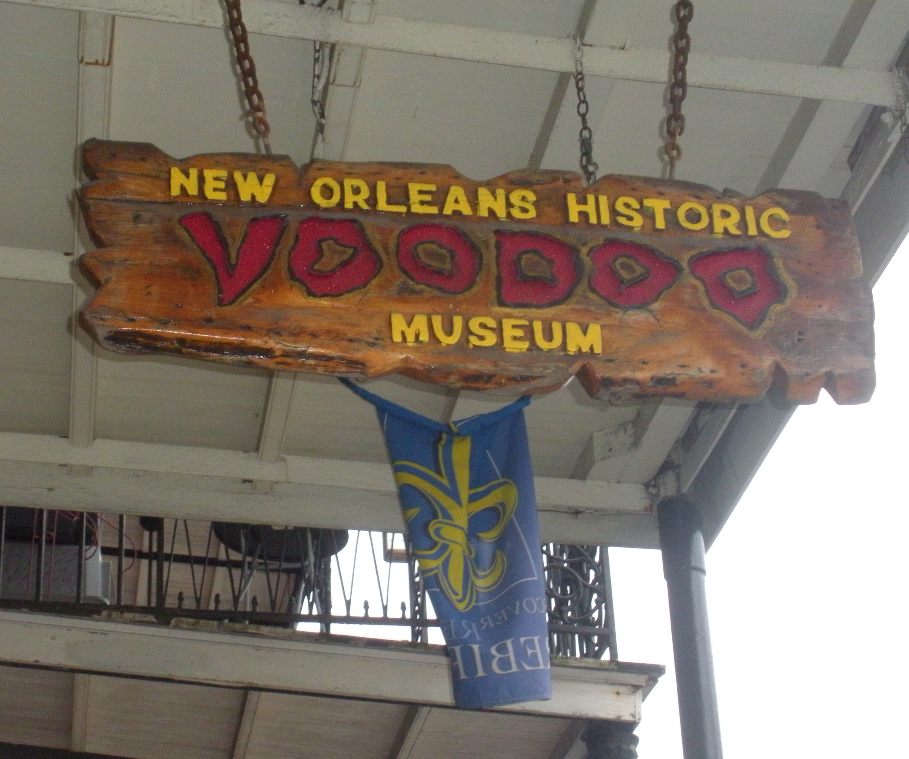 As you wander around the French Quarter, look up.  You've arrived.