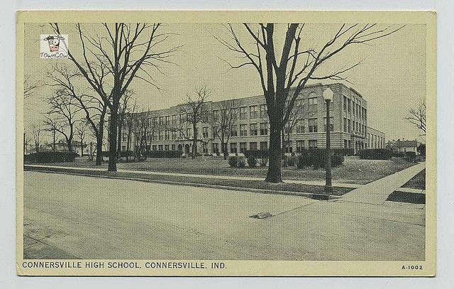 Old Photograph of Connersville High School