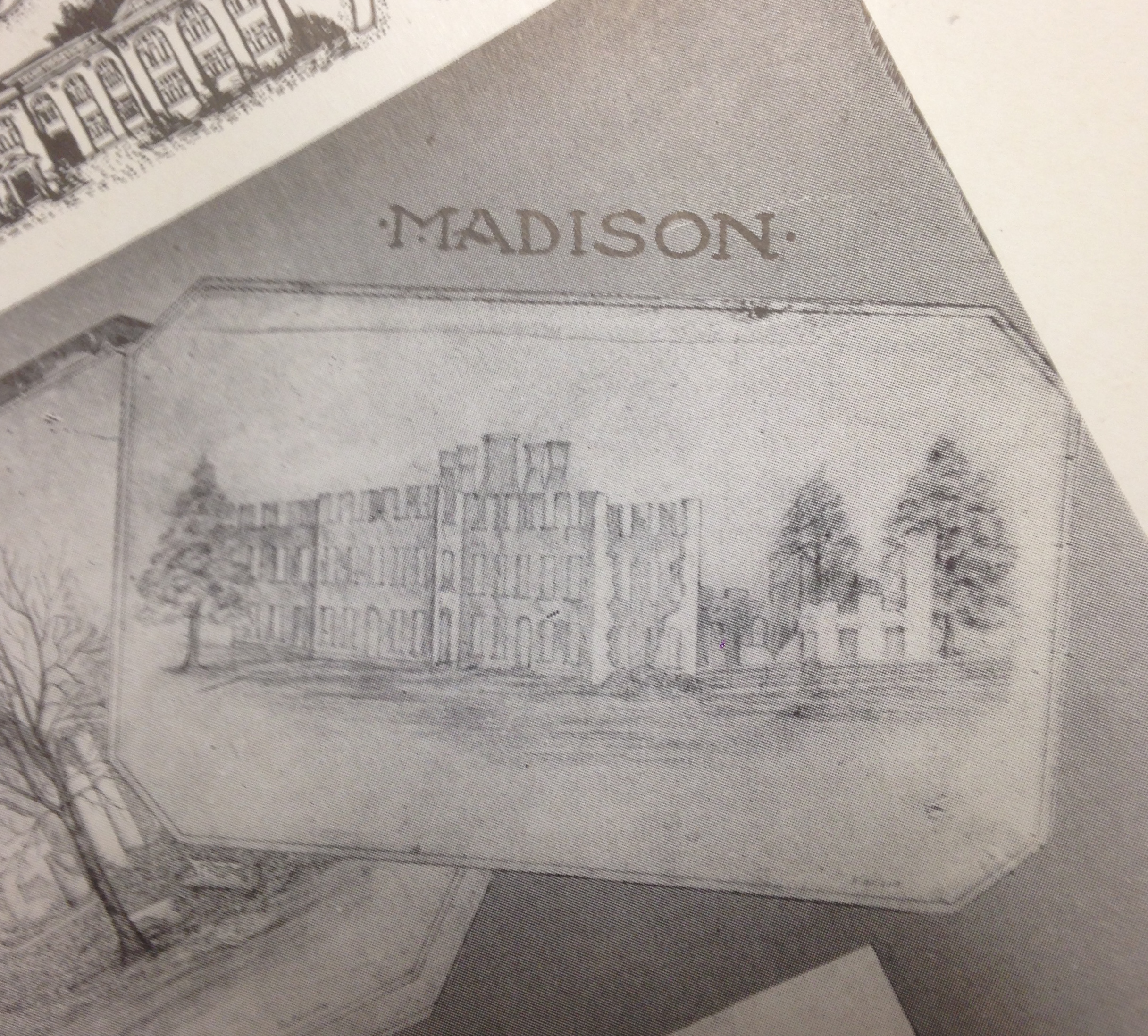 This image has been taken from the 1906 University of Alabama Corolla (W. S. Hoole Special Collections). It shows a sketching of what the ruins Madison Hall perhaps looked after federal troops burned the campus.